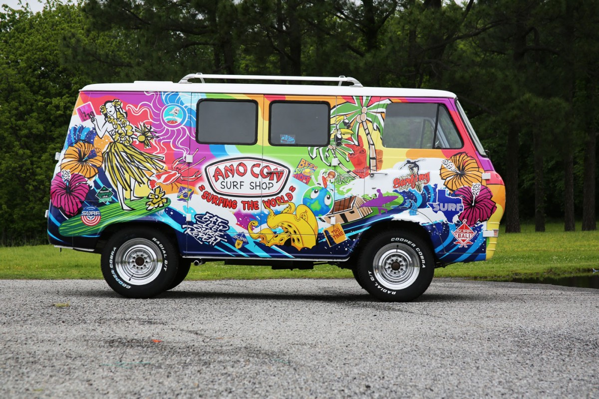 Wild Wraps For A 60 39 S Surf Shop Van And An Airboat Car