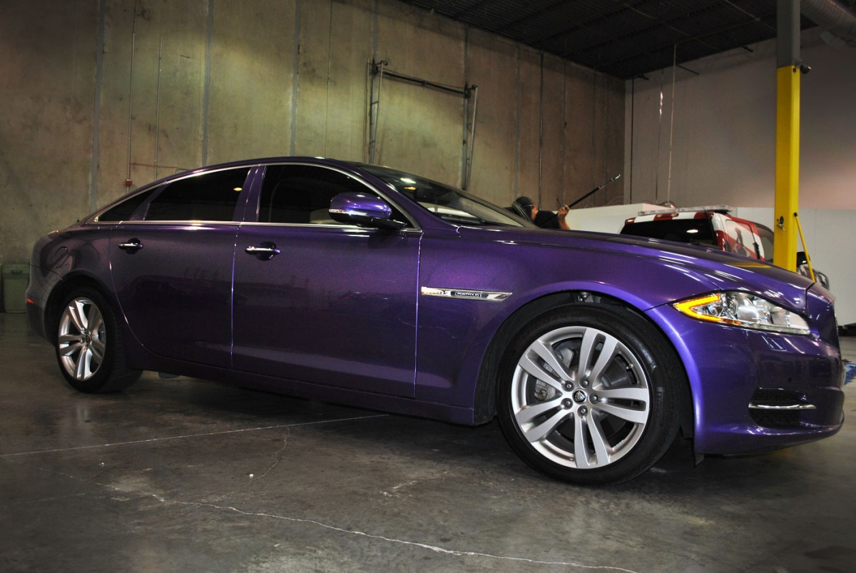 Violet Metallic Color Change Jaguar Wrap Car Wrap City