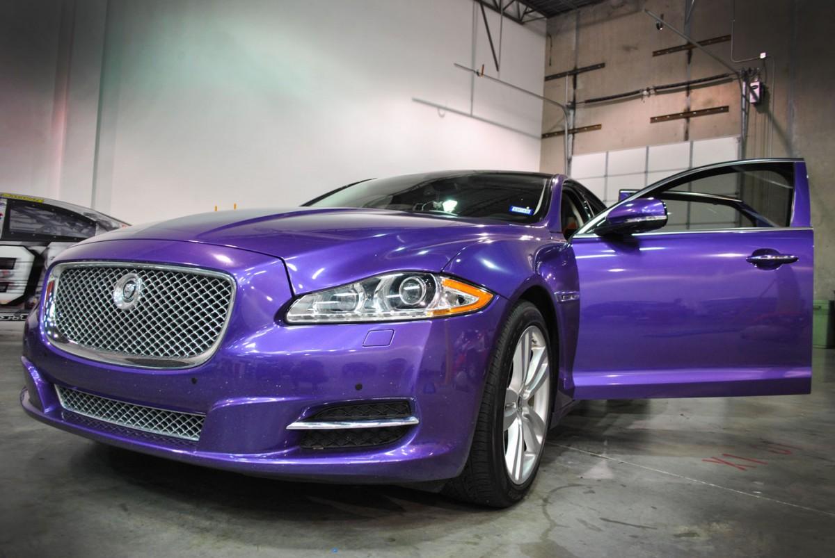 Violet Metallic Color Change Jaguar Wrap Car Wrap City