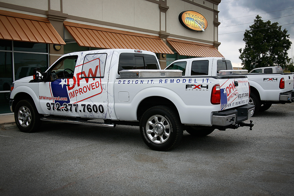Ford Fort Worth >> DFW Improved: Ford Super Duty Partial Wrap | Car Wrap City