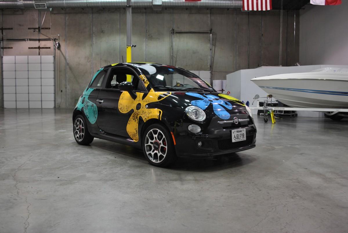 Flower Power For A Fiat 500 Car Wrap City