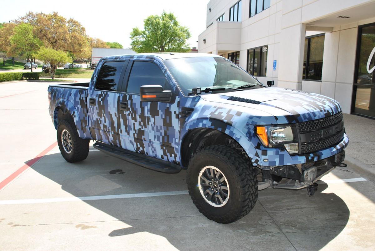 Texas Motorworx Ford Raptor Car Wrap City