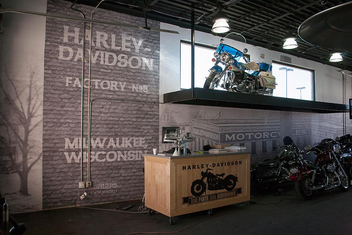 Wall Wrap at Harley Davidson | Car Wrap City