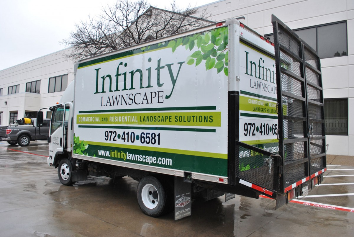 Box Truck Wraps: Infinity Lawnscape and Advanced Connections Inc. - Box Truck Wraps: Infinity Lawnscape And Advanced Connections Inc