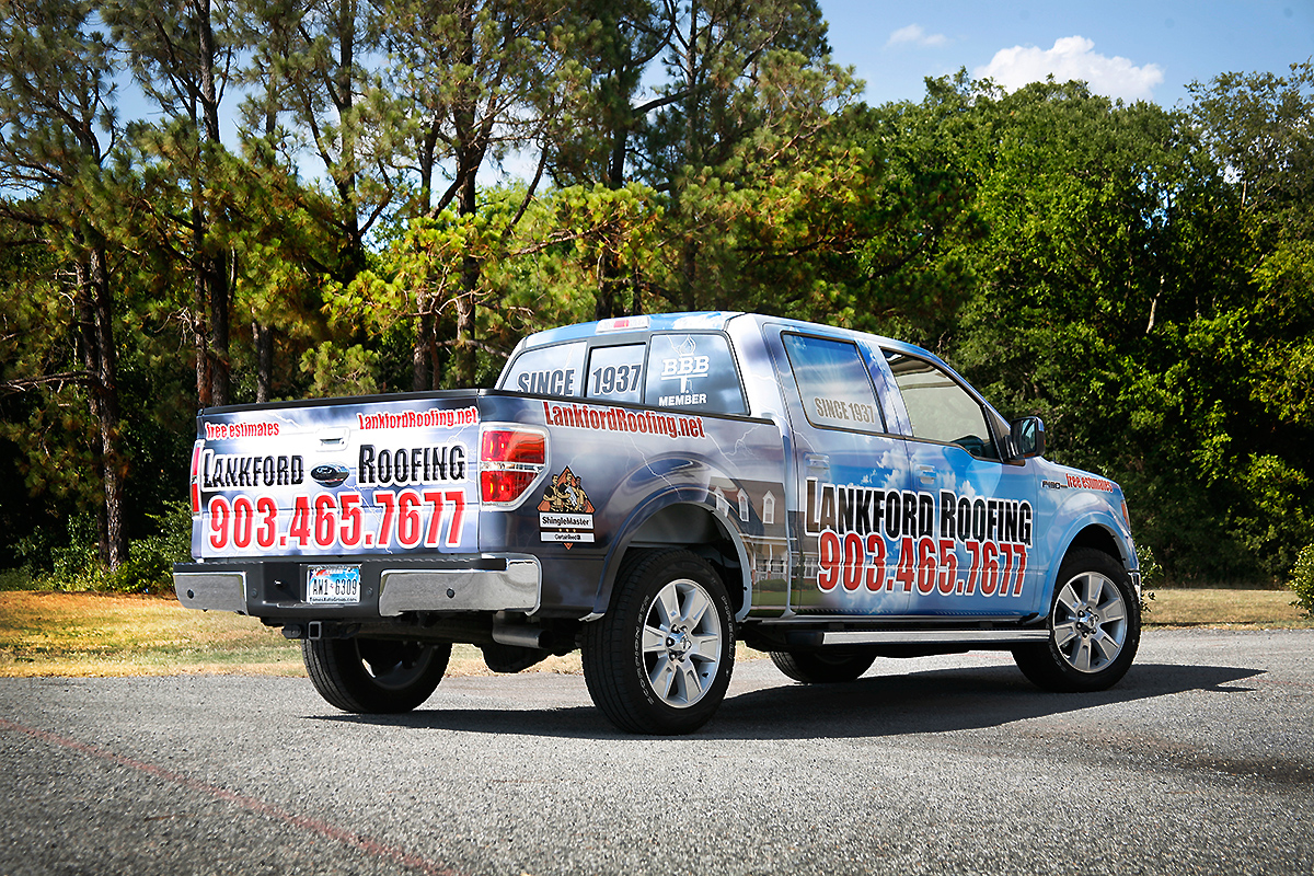 Roofing Vehicle Wrap : Lankford roofing ford f truck full printed wrap car
