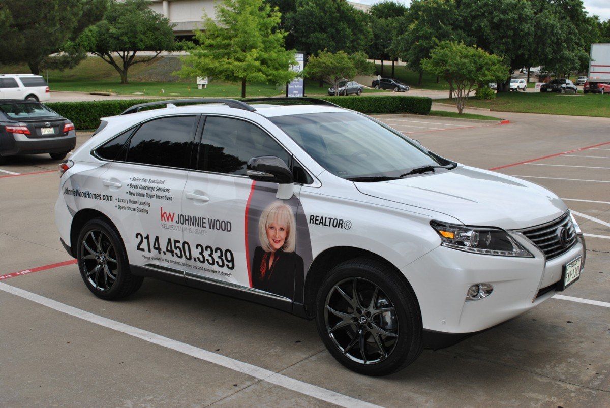 Car Real Estate: Lexus 350 SUV Wrap For Johnnie Wood With Keller Williams
