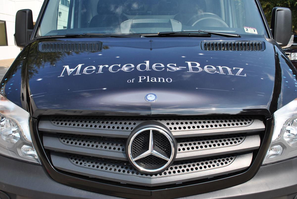 Mercedes benz of plano full sprinter wrap car wrap city for Mercedes benz plano service