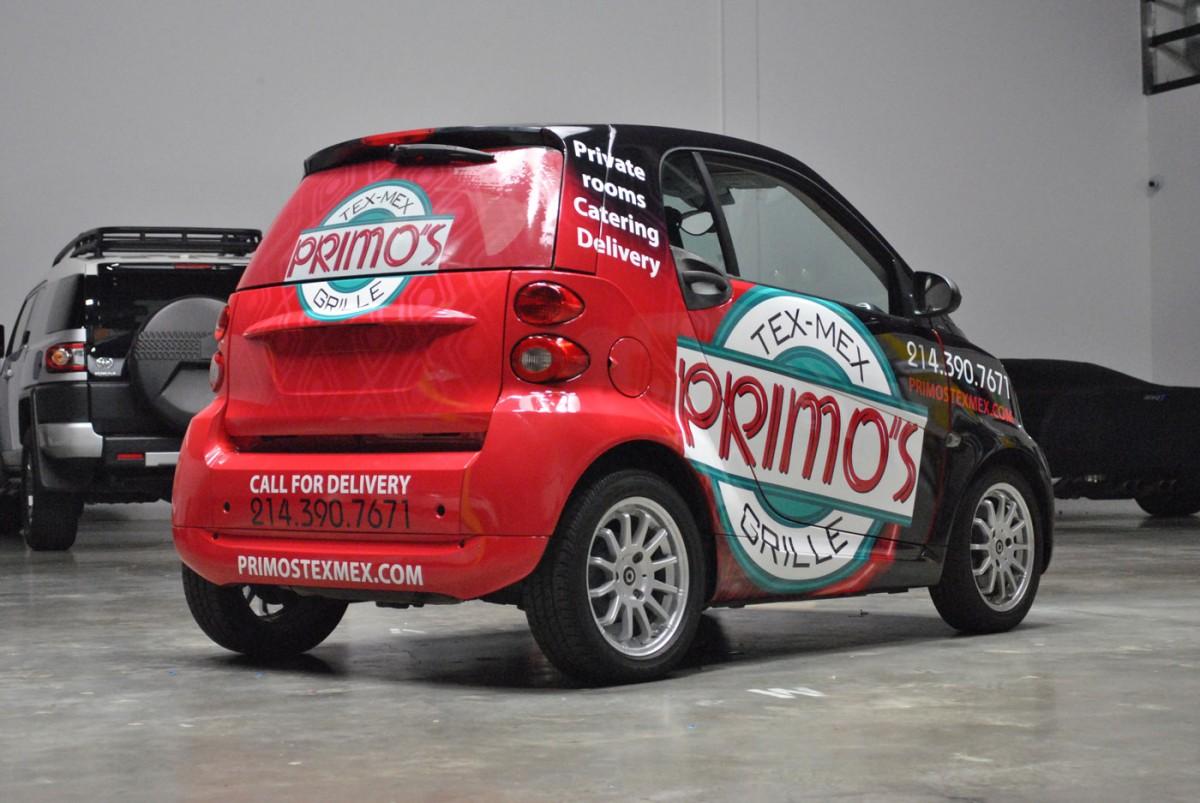 A Primo Full Print Smart Car Wrap Car Wrap City