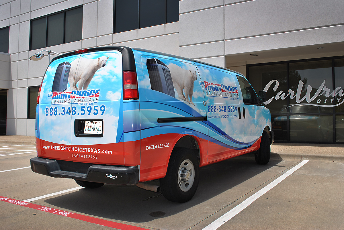 Ford van full wrap The Right Choice AC