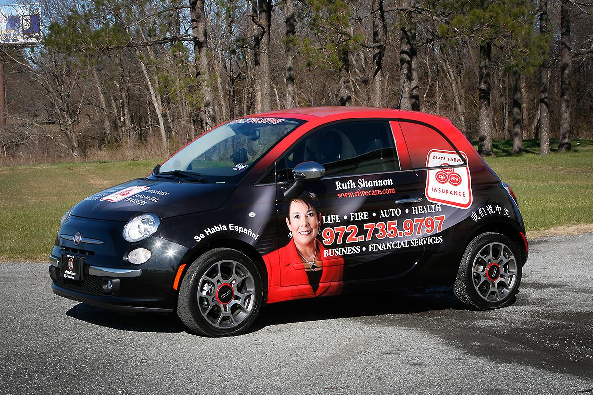 State Farm Insurance Fiat 500 Full Wrap Car Wrap City
