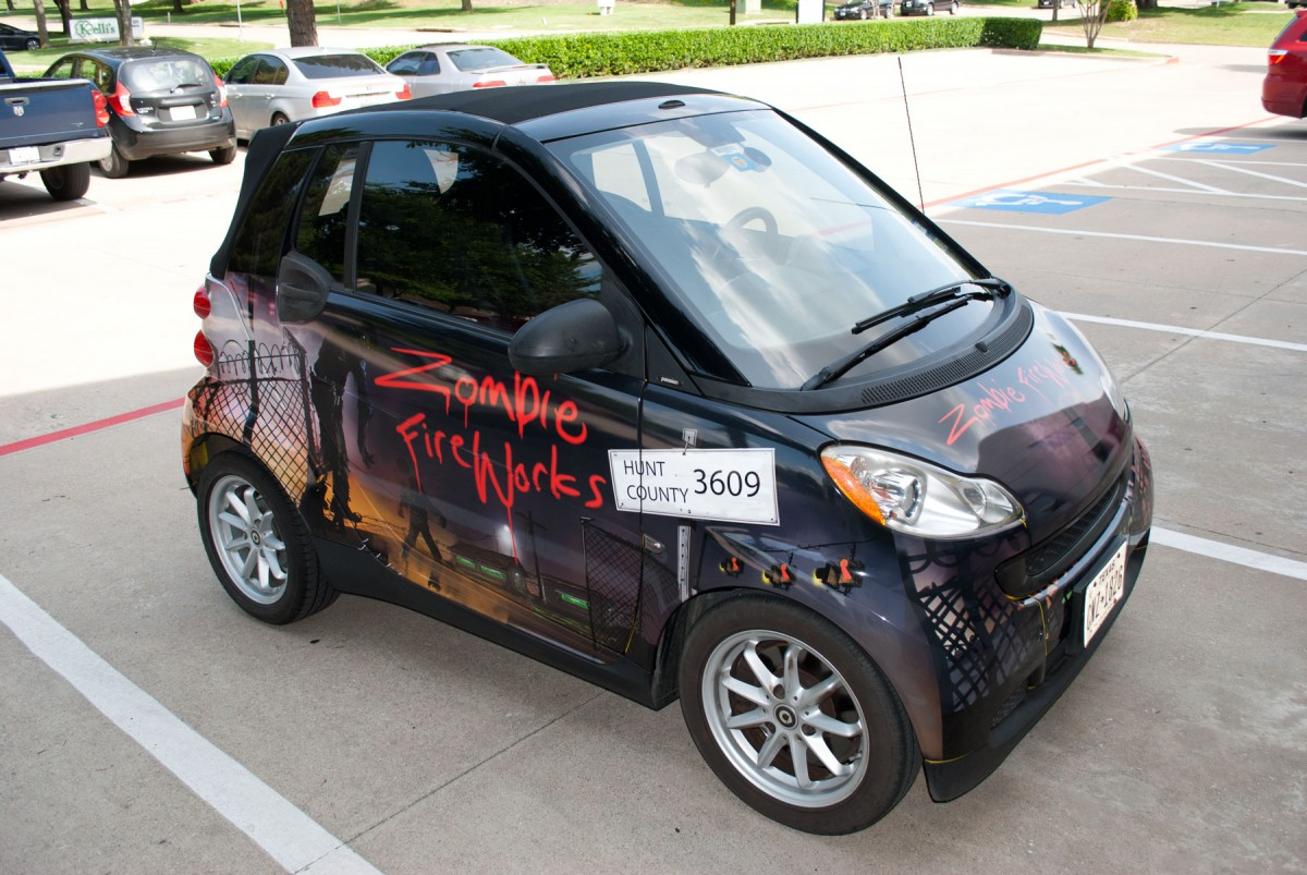 Zombie Fireworks Smart Car Cabriolet Convertible Full