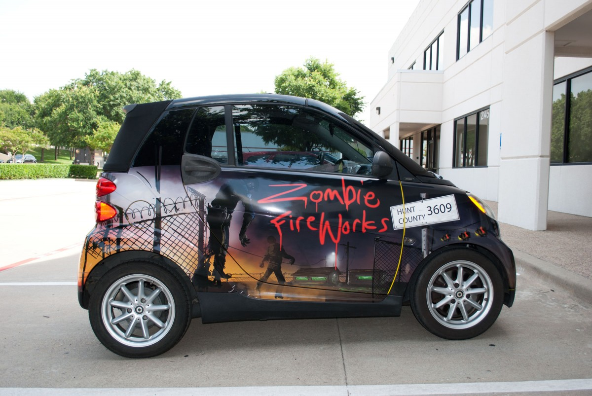 Zombie Fireworks Smart Car Cabriolet Convertible Full Print Wrap