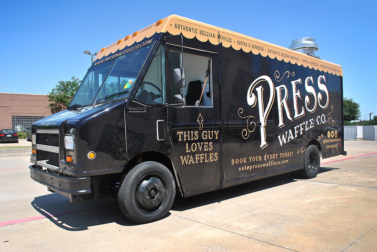 Press Waffle Co Food Truck Wrap Car Wrap City