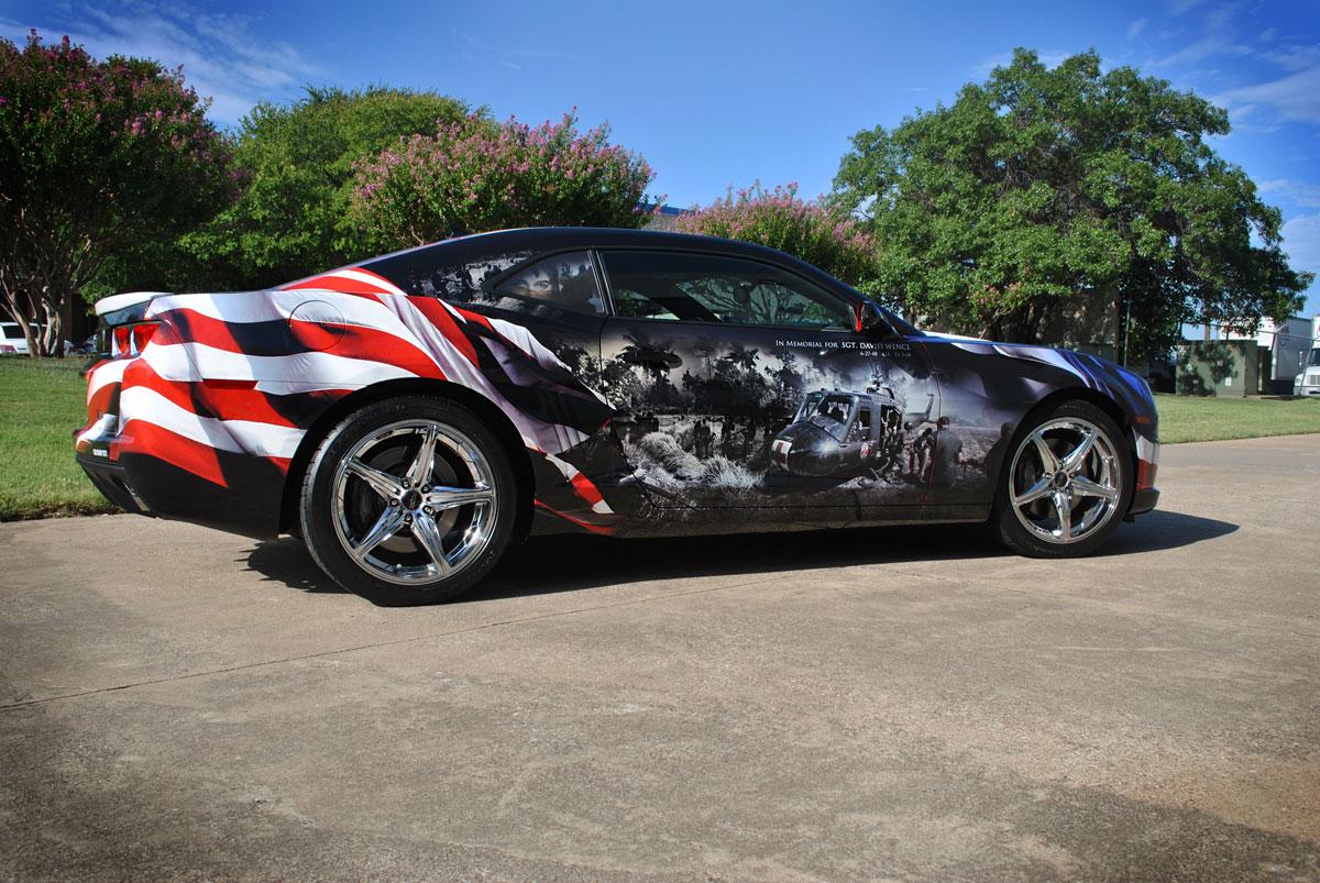 Vietnam Vet Tribute Wrap Camaro Ss Car Wrap City