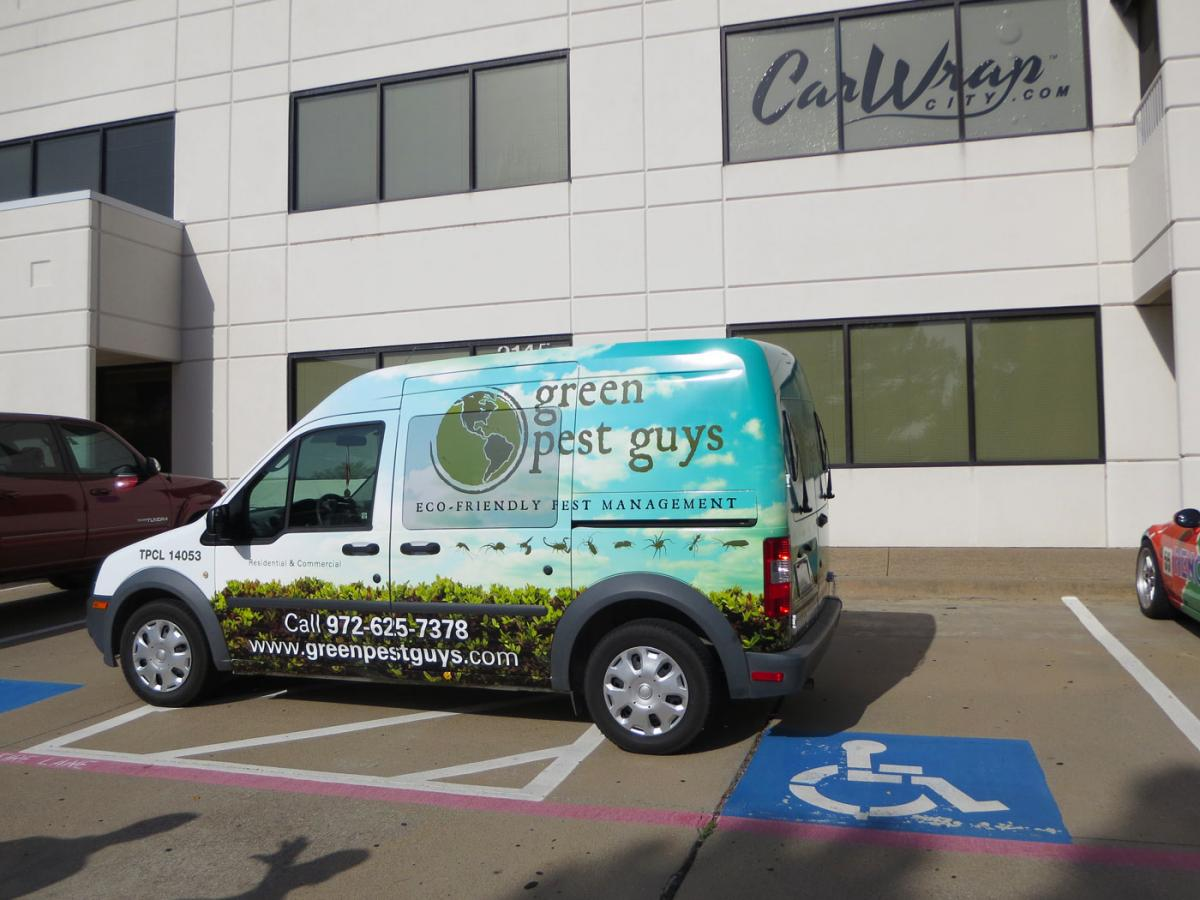 Ford Transit Connect Partial Wrap For Green Pest Guys