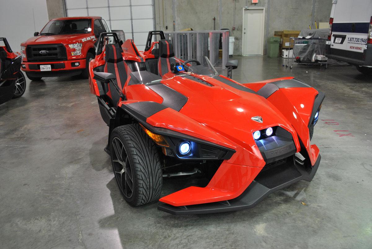 Polaris Slingshot 3D Custom Wrap Design Car City