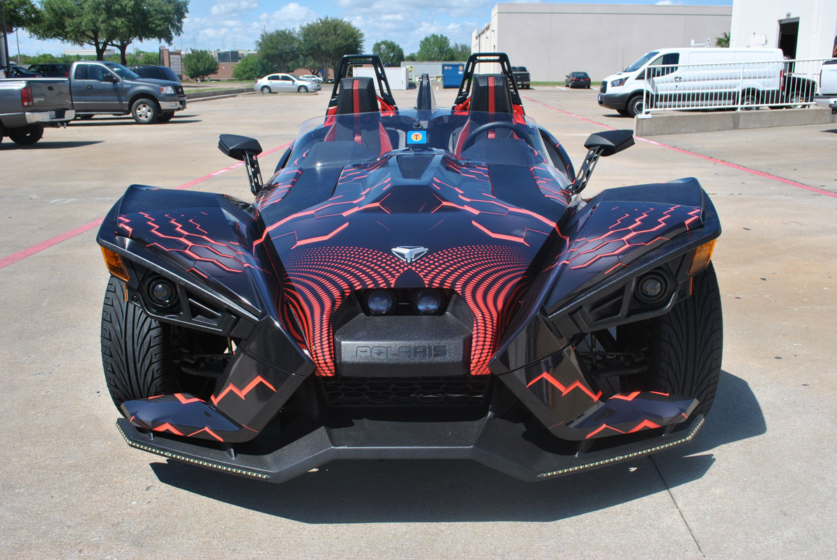 Polaris Slingshot 3D Custom Wrap Design | Car Wrap City