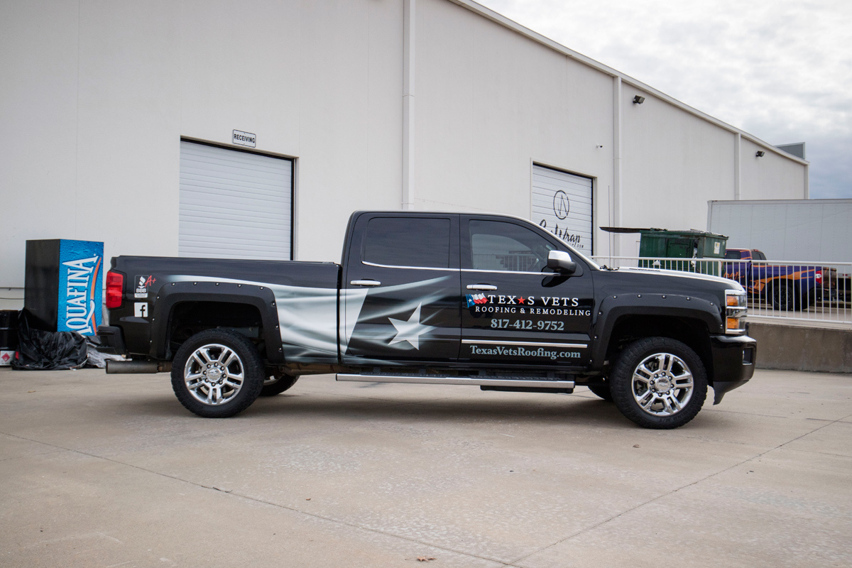 Partial Silverado Truck Wrap | Car Wrap City
