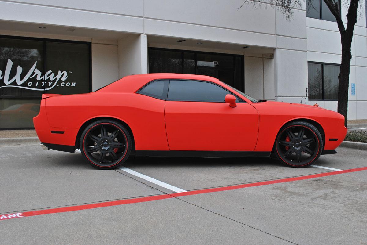 Challenger 2017 >> Matte Red Challenger Color Change | Car Wrap City