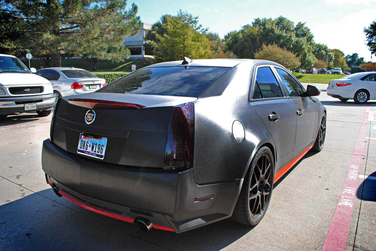 Cadillac CTS Brushed Black Metallic Color Change Car