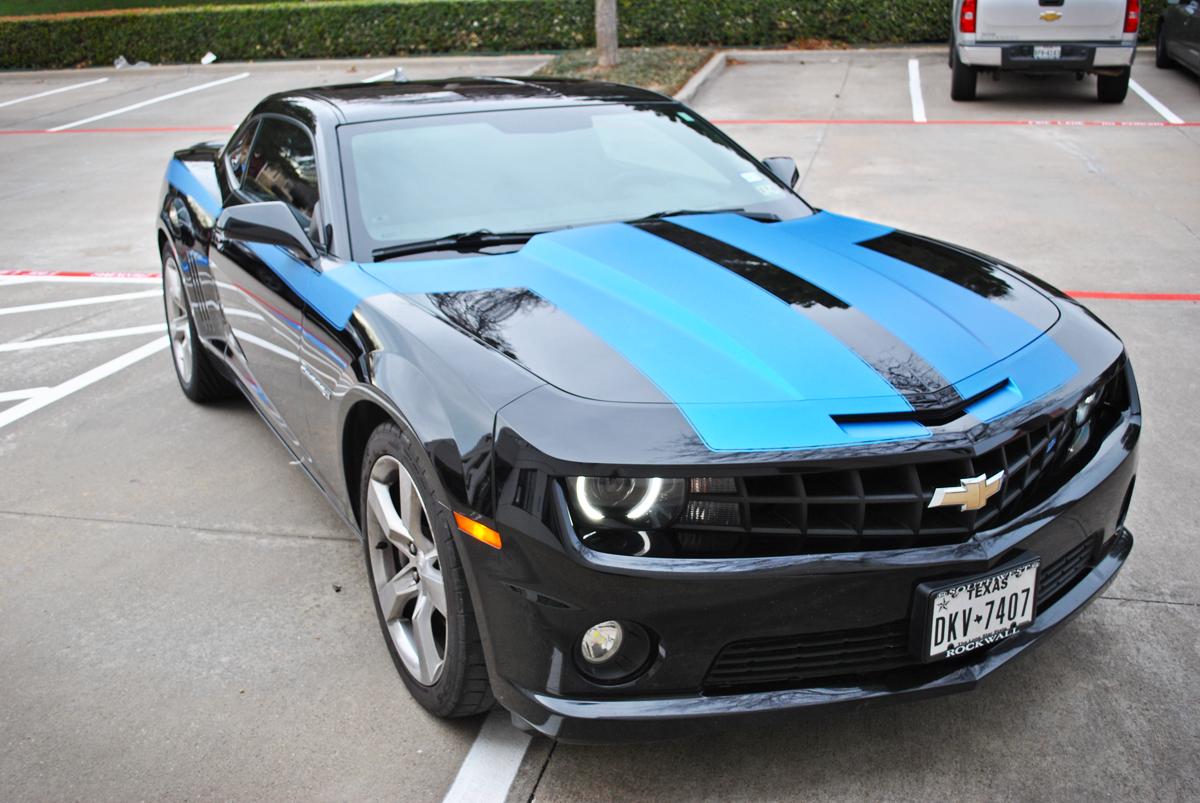 Matte Blue Car >> Custom Matte Blue Metallic Stripe Kit Car Wrap City
