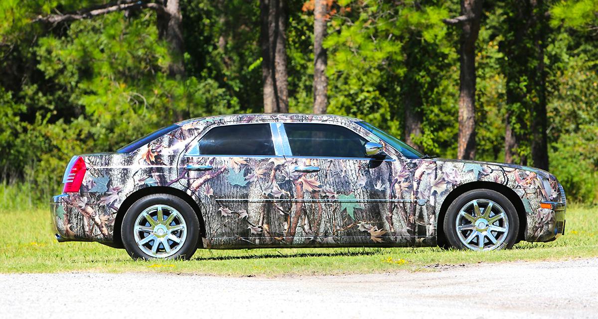 Chrysler 300 Gloss Camo Car Wrap City