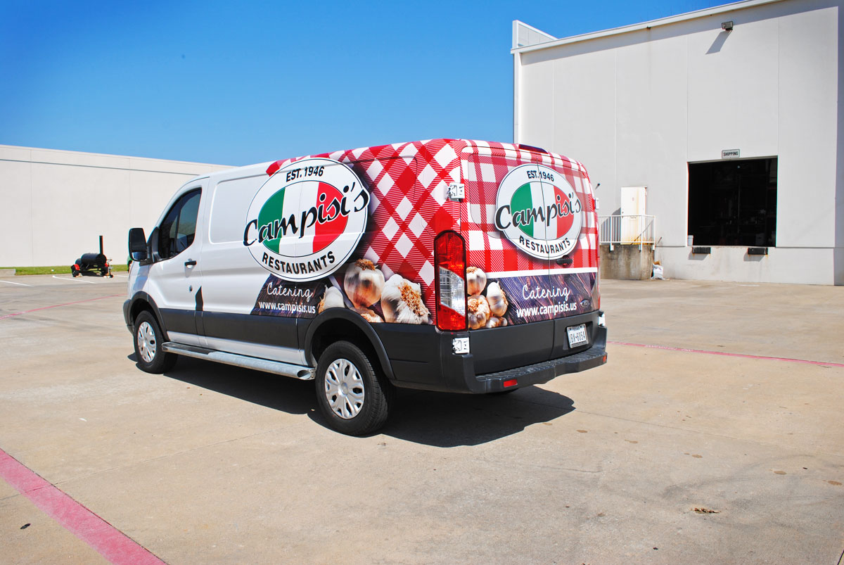 Campisi's Catering Transit-250 Partial Wrap | Car Wrap City