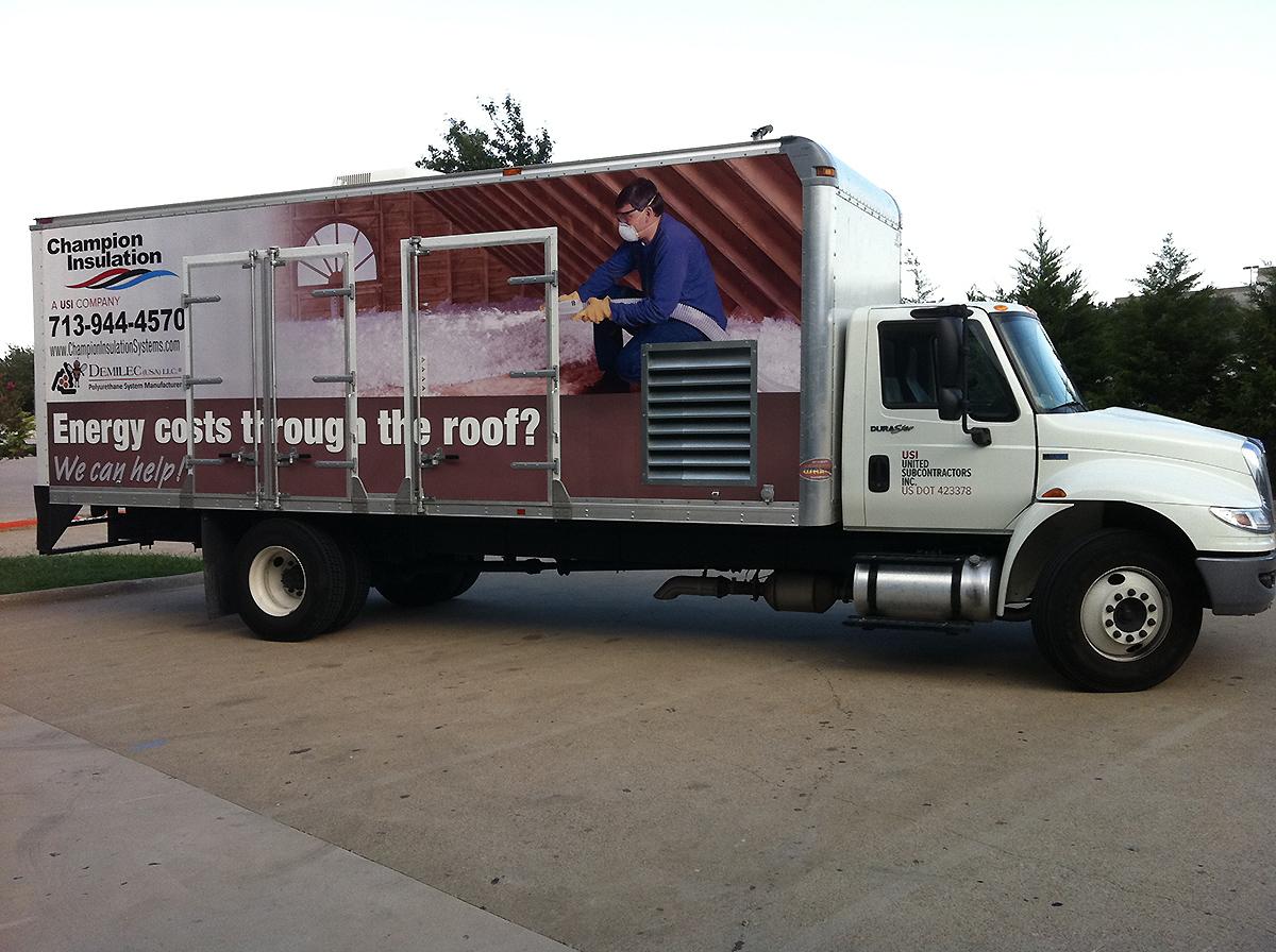 Car Full Form >> Champion Insulation Box Truck Wrap | Car Wrap City