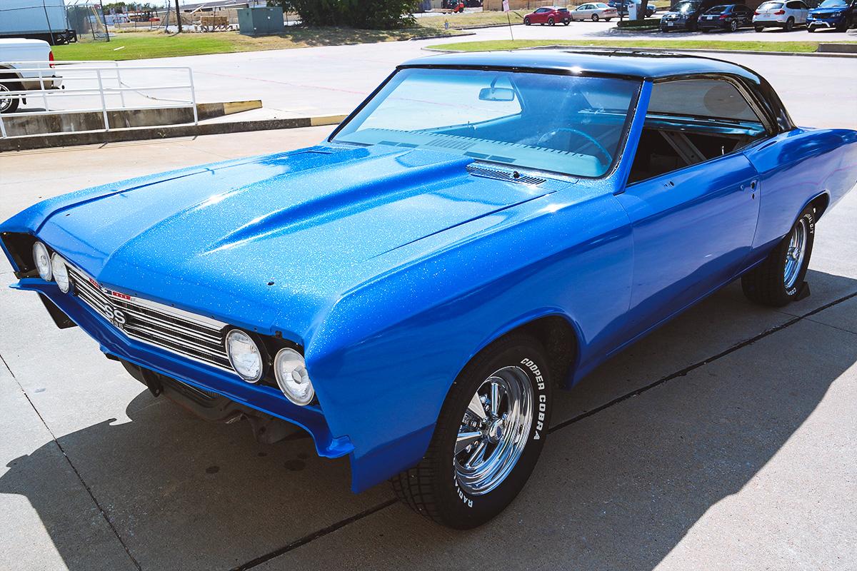 2017 Ss Chevrolet >> '67 Chevelle Blue Diamond Wrap   Car Wrap City