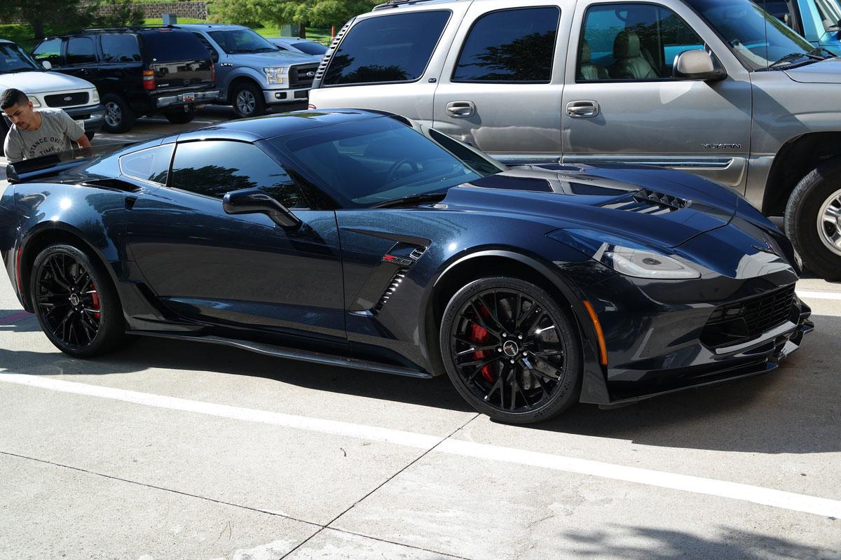 Corvette Z06 2019 >> Battleship Grey Z06 Wrap | Car Wrap City