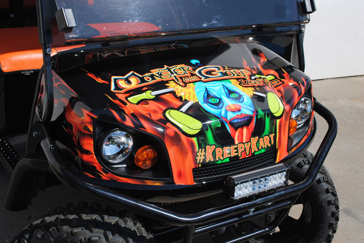 Golf Cart Wrap For Kiss By Monster Mini Golf Car Wrap City