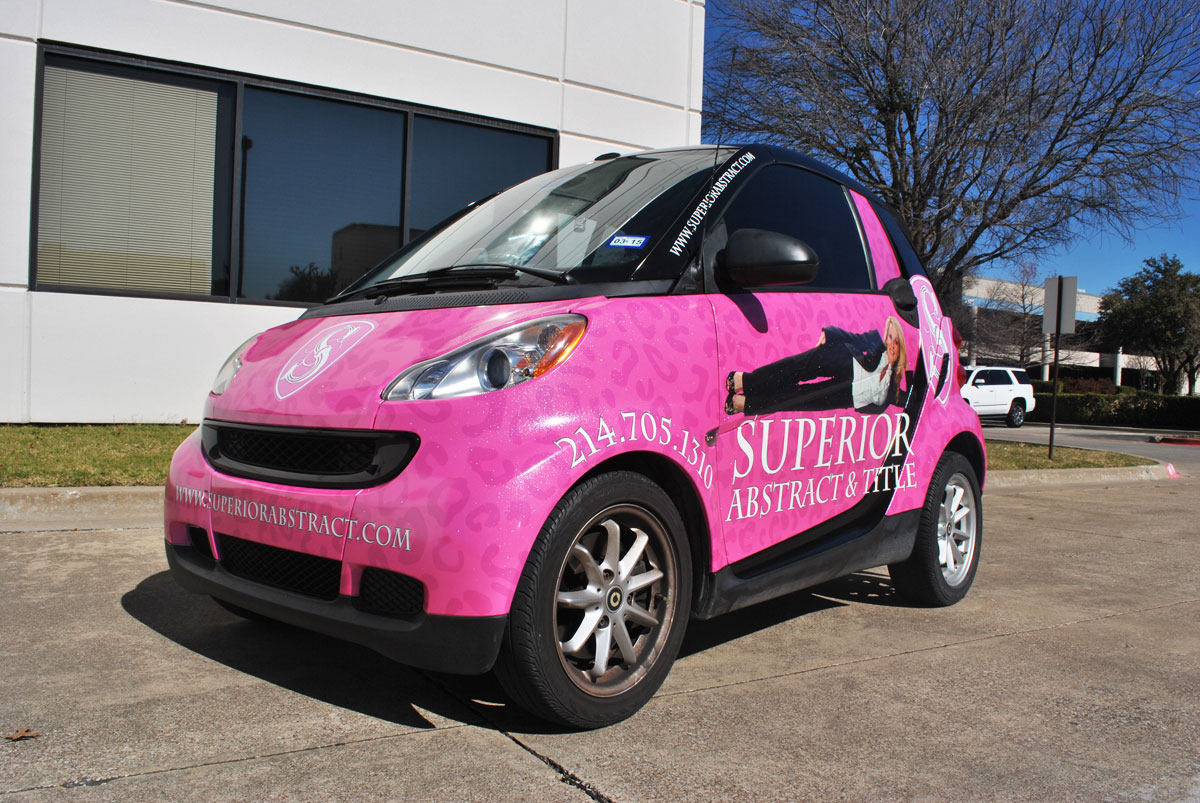 sparkly pink smart car wrap car wrap city. Black Bedroom Furniture Sets. Home Design Ideas