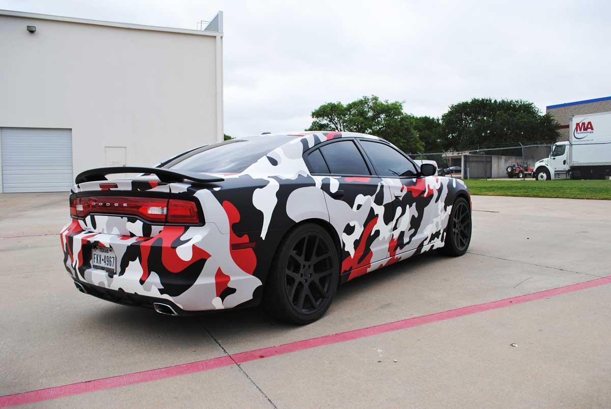 Custom Matte Camo Charger Wrap Car Wrap City