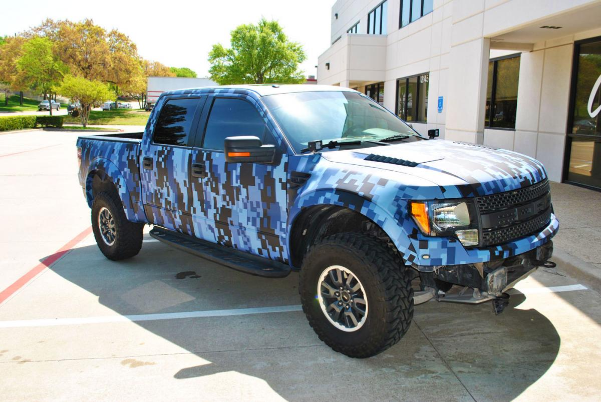 texas motorworx raptor digital camo truck wrap car wrap city. Black Bedroom Furniture Sets. Home Design Ideas