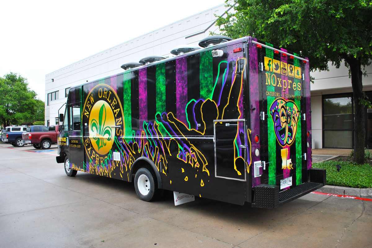 new orleans express ford food truck wrap car wrap city. Black Bedroom Furniture Sets. Home Design Ideas
