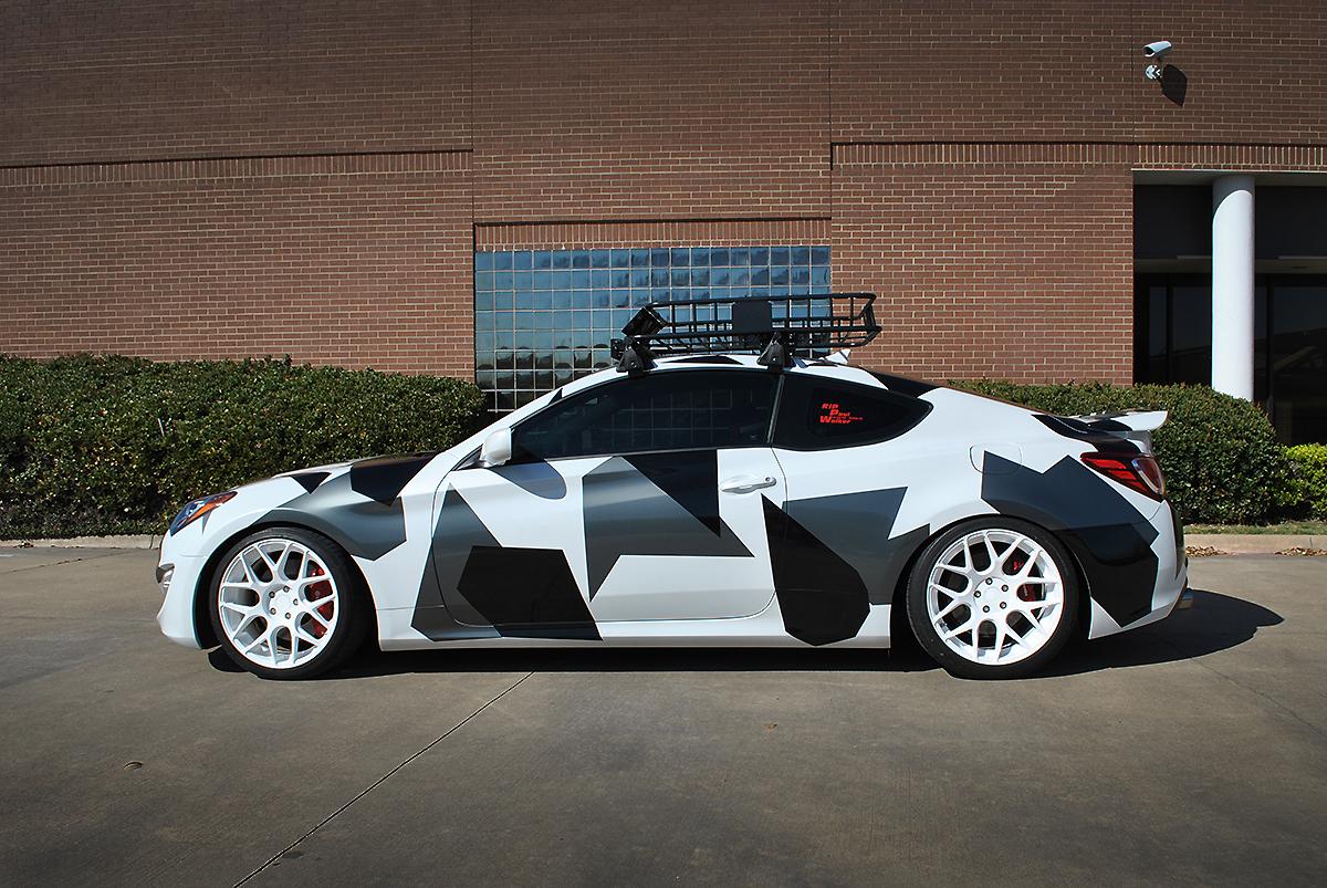 Car And Driver >> Hyundai Genesis Custom Camo Partial Wrap | Car Wrap City