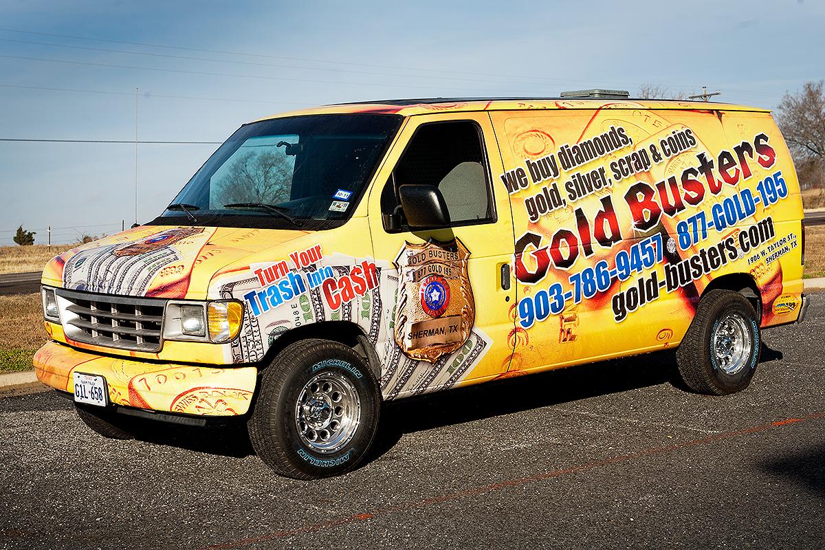 Gold Busters Chevrolet Van Full Wrap | Car Wrap City