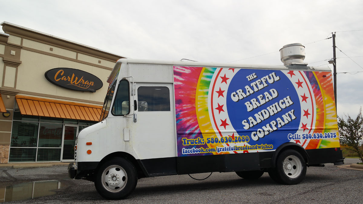The Grateful Bread Sandwich Company Food Truck Wrap Car