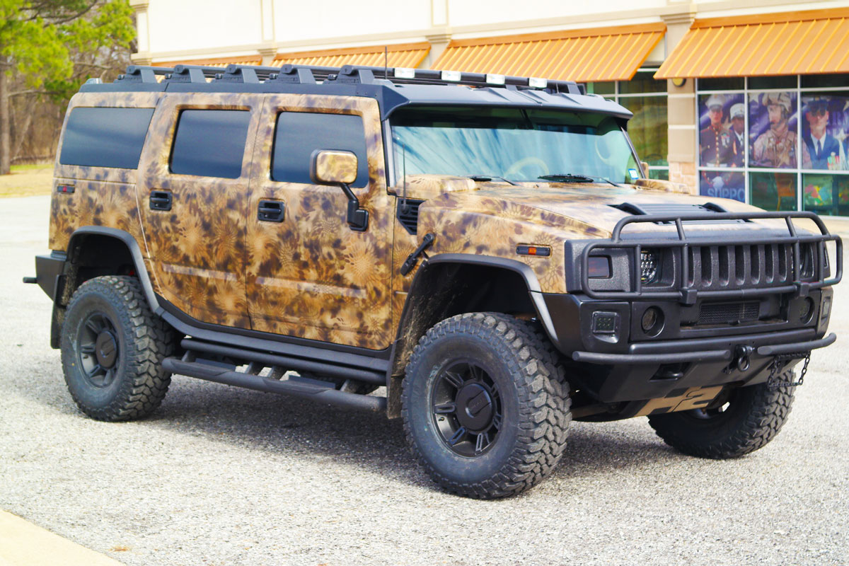 Hummer H2 Custom Camo Wrap Car Wrap City