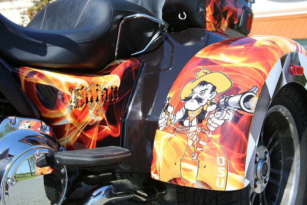Harley Davidson Flame Trike Full Wrap | Car Wrap City