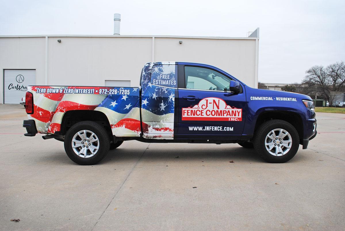 Jn Fence Patriotic Partial Colorado Truck Wrap Car Wrap City