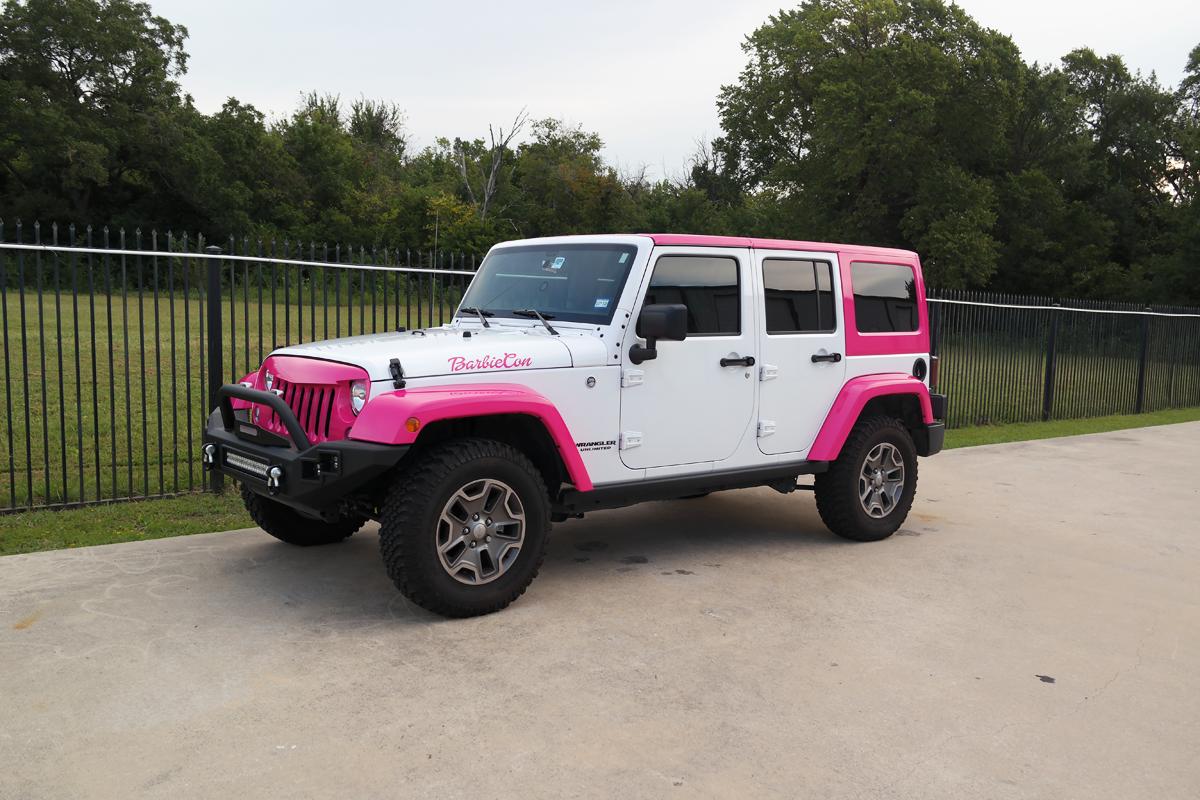 Jeep Barbiecon Car Wrap City