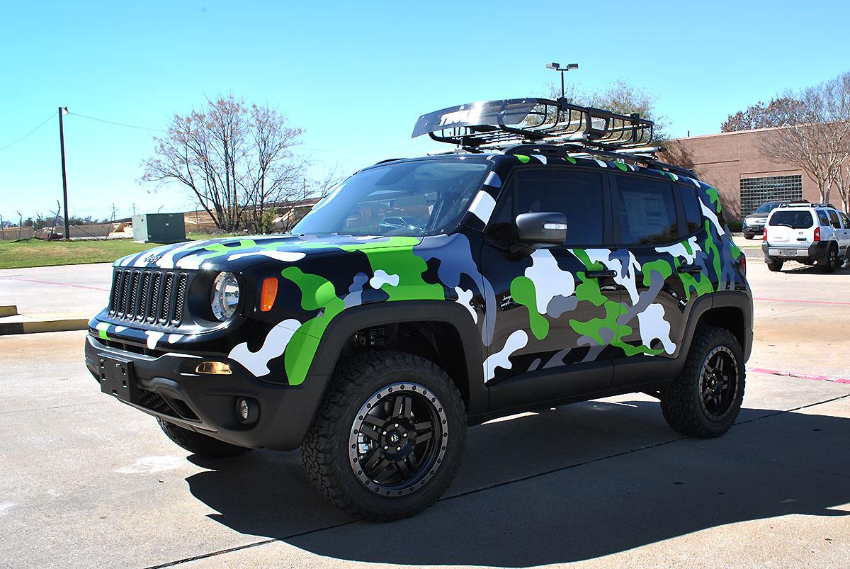 Matte White Jeep Patriot >> Jeep Renegade Custom Camo Wrap | Car Wrap City
