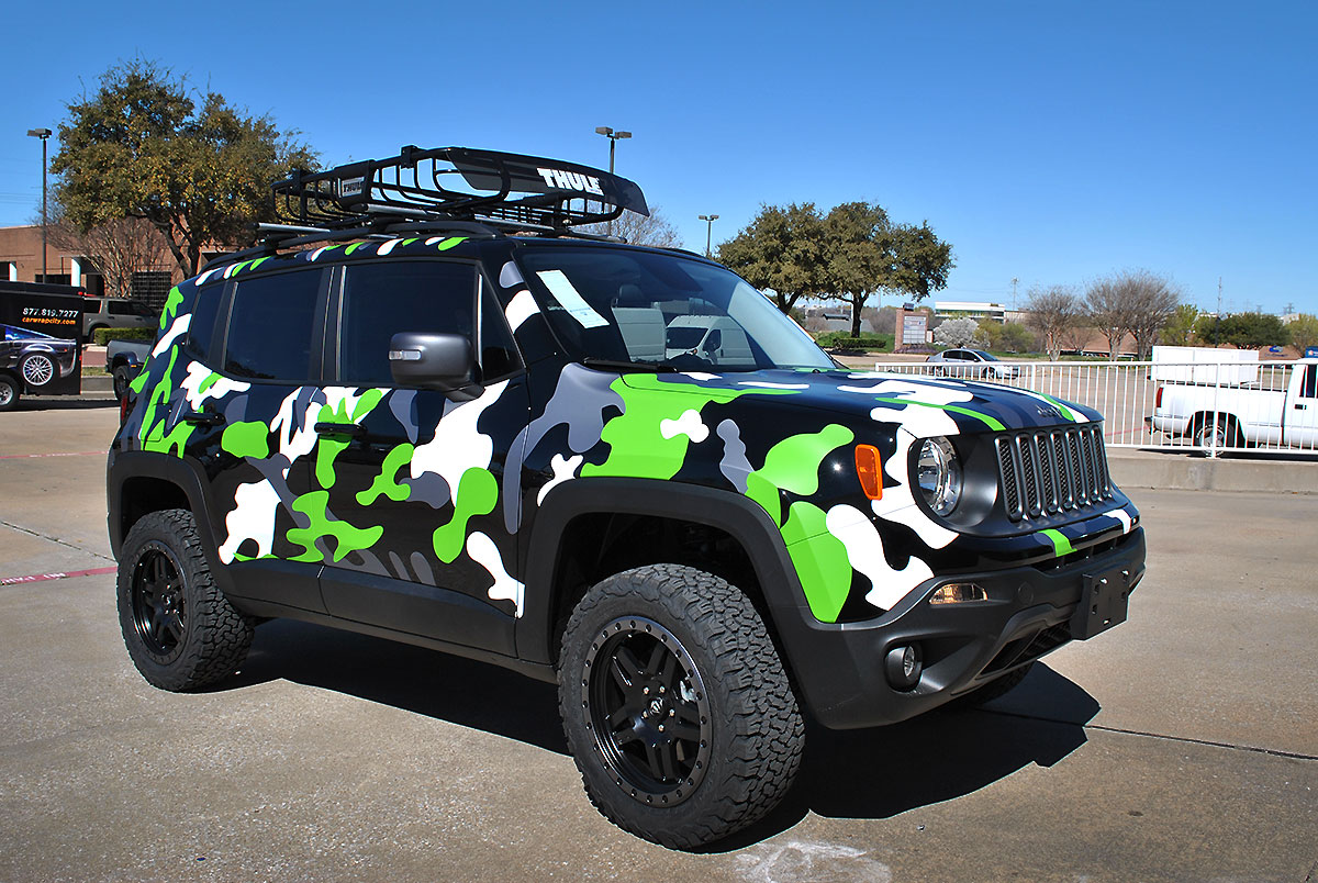 Jeep Renegade Custom Camo Wrap Car Wrap City