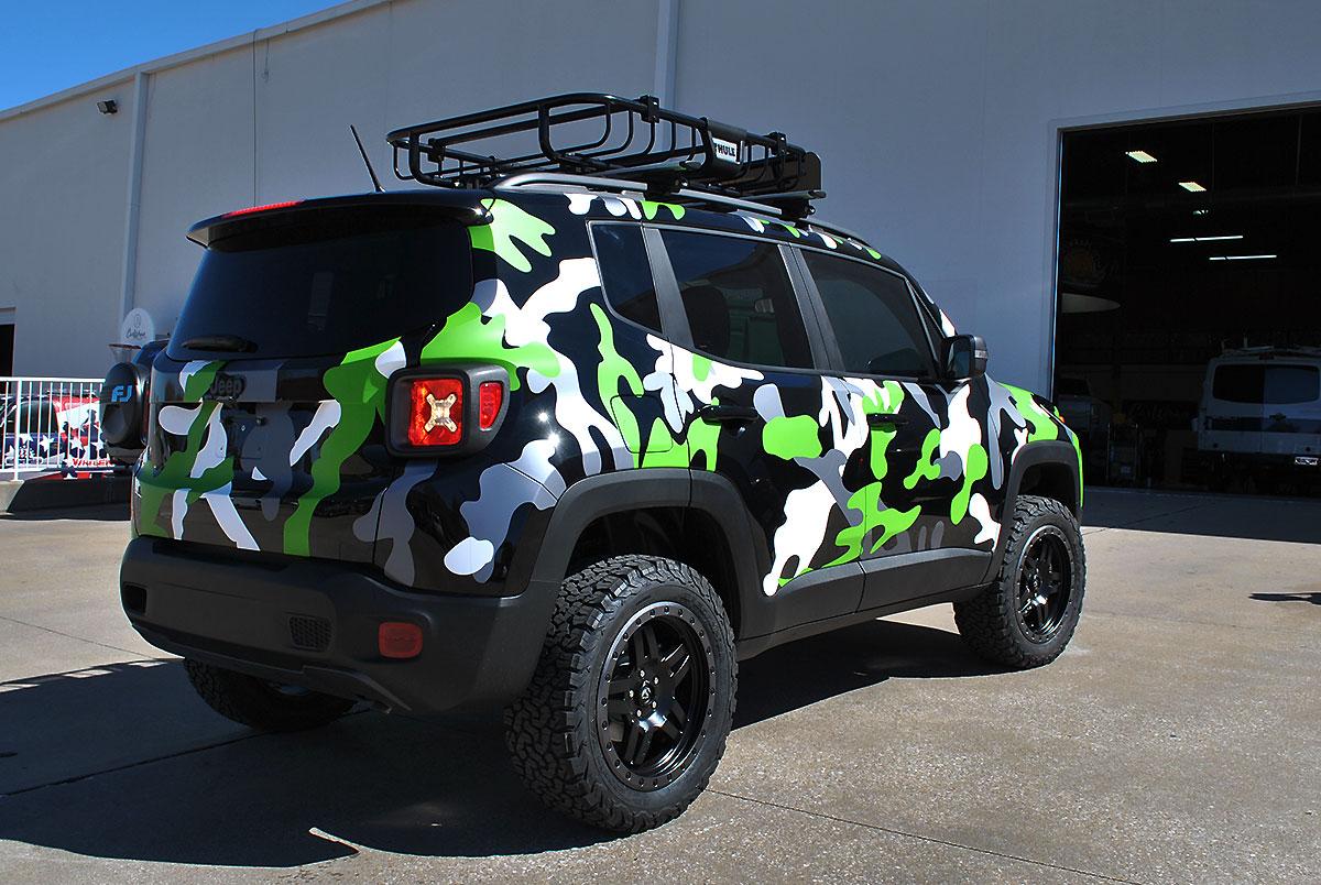 White Jeep Patriot >> Jeep Renegade Custom Camo Wrap | Car Wrap City