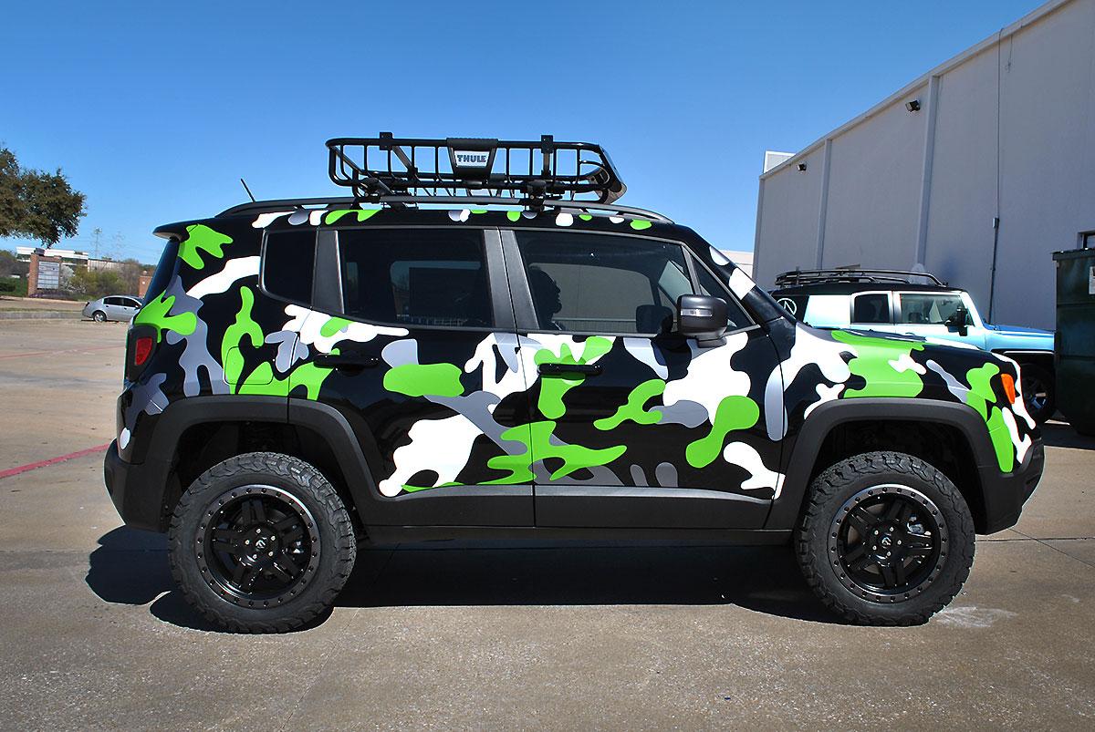 Jeep Renegade Custom Camo Wrap Car Wrap City