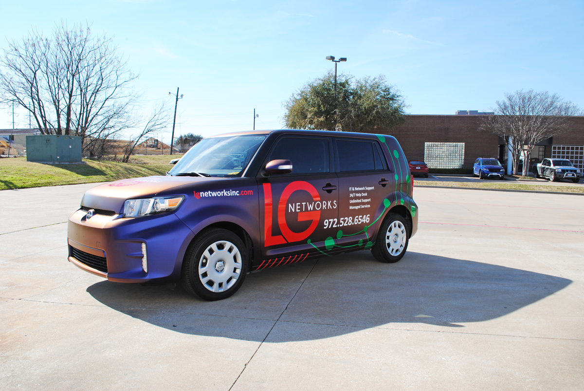 scion xb branded colorflow wrap car wrap city
