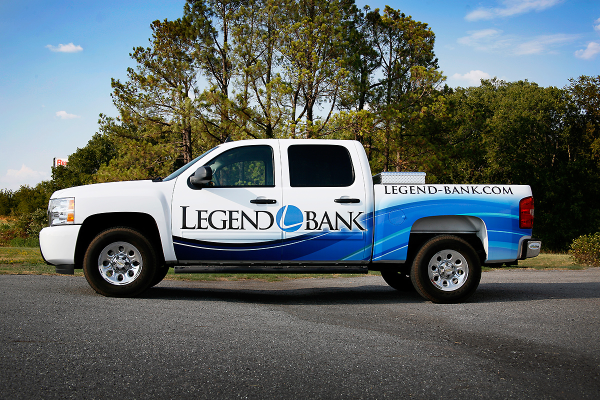 Legend Bank Full Pick Up Truck Wrap Car Wrap City