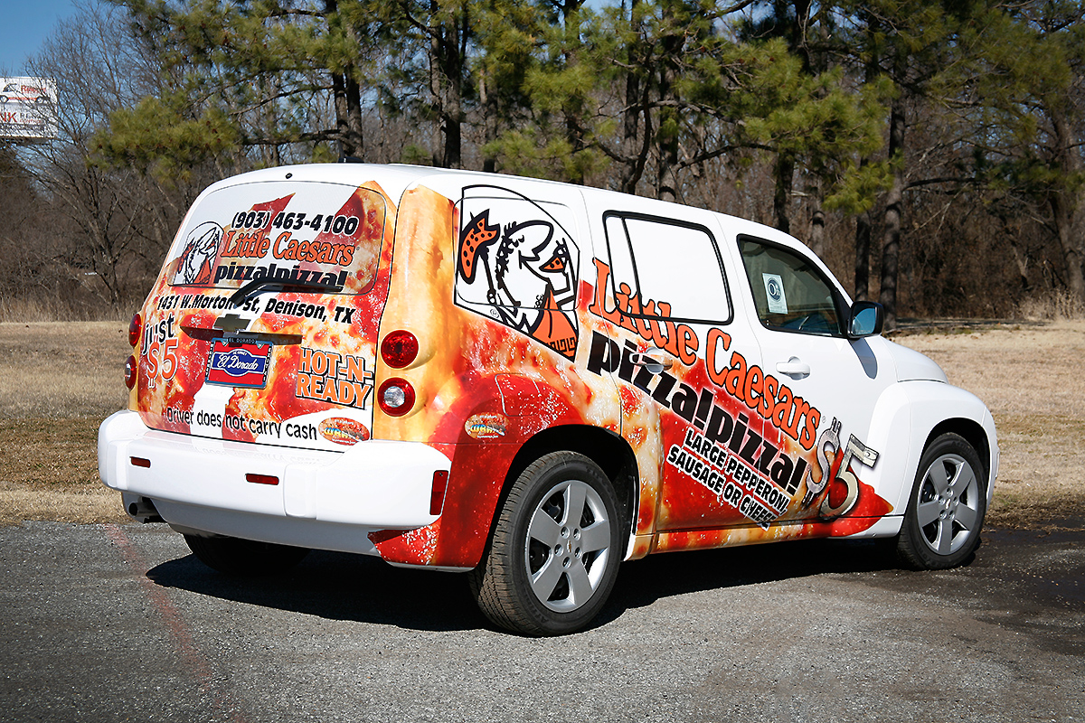 Little Caesars Chevrolet Hhr Partial Wrap Car Wrap City