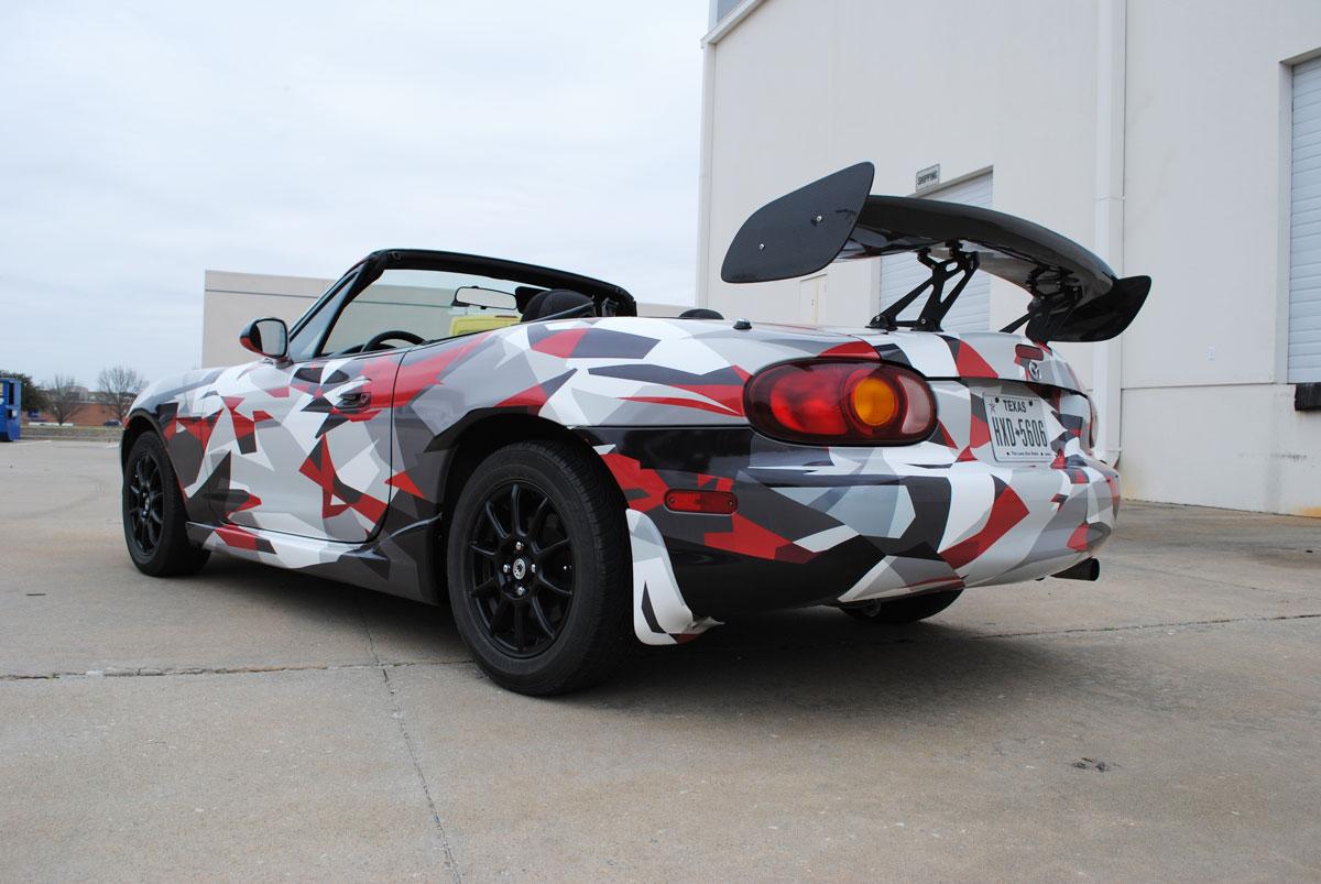Mazda Miata Custom Designed Printed Camo Wrap Car Wrap